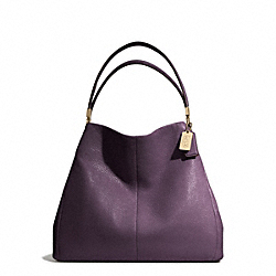 COACH MADISON LEATHER SMALL PHOEBE SHOULDER BAG - LIGHT GOLD/BLACK VIOLET - F26221
