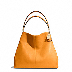 COACH MADISON SMALL PHOEBE SHOULDER BAG IN LEATHER - LIGHT GOLD/BRIGHT MANDARIN - F26221