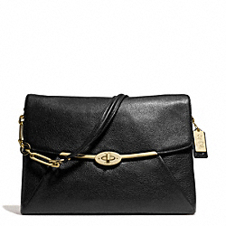 COACH MADISON LEATHER SHOULDER FLAP - ONE COLOR - F26223