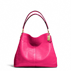 MADISON LEATHER SMALL PHOEBE SHOULDER BAG - LIGHT GOLD/PINK RUBY - COACH F26224
