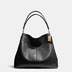MADISON SMALL PHOEBE SHOULDER BAG IN LEATHER - f26224 -  LIGHT GOLD/BLACK