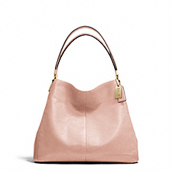 MADISON LEATHER SMALL PHOEBE SHOULDER BAG - f26224 - LIGHT GOLD/PEACH ROSE