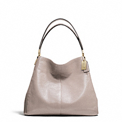 COACH MADISON LEATHER SMALL PHOEBE SHOULDER BAG - LIGHT GOLD/GREY BIRCH - F26224
