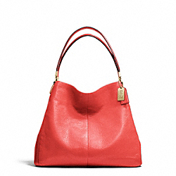 COACH MADISON LEATHER SMALL PHOEBE SHOULDER BAG - LIGHT GOLD/LOVE RED - F26224
