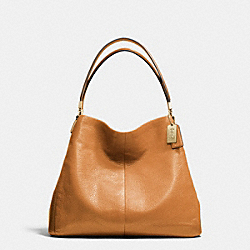 COACH MADISON LEATHER SMALL PHOEBE SHOULDER BAG - LIGHT GOLD/BURNT CAMEL - F26224