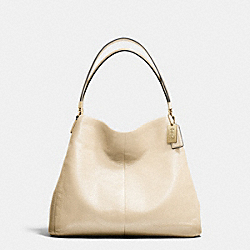 COACH MADISON LEATHER SMALL PHOEBE SHOULDER BAG - LIGHT GOLD/MILK - F26224