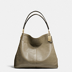 COACH MADISON LEATHER SMALL PHOEBE SHOULDER BAG - LIGHT GOLD/OLIGHT GOLDVE GREY - F26224