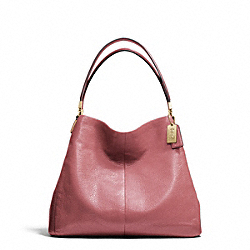 MADISON LEATHER SMALL PHOEBE SHOULDER BAG - LIGHT GOLD/ROUGE - COACH F26224