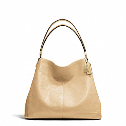 MADISON LEATHER SMALL PHOEBE SHOULDER BAG - LIGHT GOLD/TAN - COACH F26224