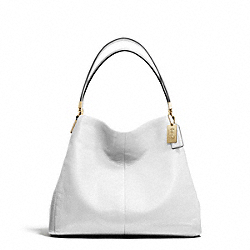 COACH MADISON LEATHER SMALL PHOEBE SHOULDER BAG - LIGHT GOLD/WHITE - F26224