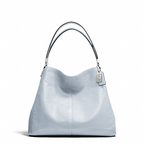 ... f26224 MADISON LEATHER SMALL PHOEBE SHOULDER BAG SILVERPOWDER BLUE