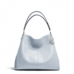 MADISON LEATHER SMALL PHOEBE SHOULDER BAG - SILVER/POWDER BLUE - COACH F26224