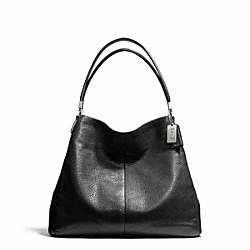 COACH MADISON LEATHER SMALL PHOEBE SHOULDER BAG - SILVER/BLACK - F26224