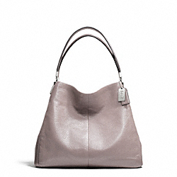 MADISON LEATHER SMALL PHOEBE SHOULDER BAG - SILVER/GREY QUARTZ - COACH F26224