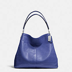 COACH MADISON LEATHER SMALL PHOEBE SHOULDER BAG - SILVER/LACQUER BLUE - F26224