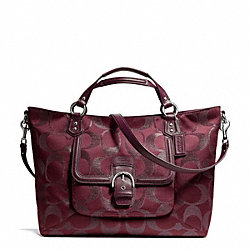COACH CAMPBELL SIGNATURE METALLIC IZZY FASHION SATCHEL - ONE COLOR - F26241