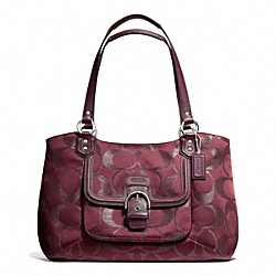 COACH CAMPBELL SIGNATURE METALLIC BELLE CARRYALL - ONE COLOR - F26246