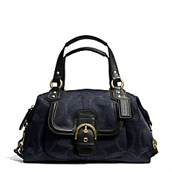 COACH CAMPBELL SIGNATURE METALLIC SATCHEL - ONE COLOR - F26247