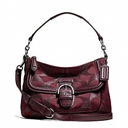 COACH CAMPBELL SIGNATURE METALLIC SMALL CONVERTIBLE HOBO - ONE COLOR - F26248
