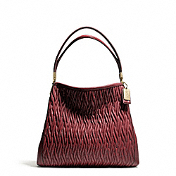COACH MADISON GATHERED TWIST SMALL PHOEBE SHOULDER BAG - Light Gold/BRICK RED - F26257