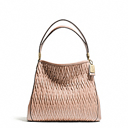 COACH MADISON GATHERED TWIST SMALL PHOEBE SHOULDER BAG - LIGHT GOLD/PEACH ROSE - F26257