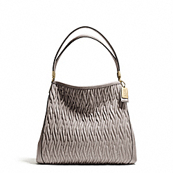 COACH MADISON GATHERED TWIST LEATHER SMALL PHOEBE SHOULDER BAG - ONE COLOR - F26258