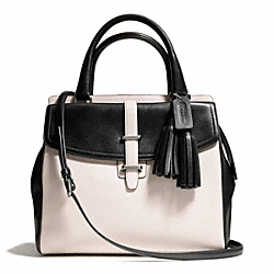 COACH TWO TONE LEATHER NORTH/SOUTH SATCHEL - ONE COLOR - F26301