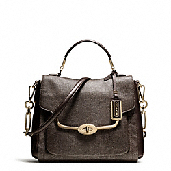 COACH MADISON SMALL SADIE FLAP SATCHEL IN GLITTER LIZARD - ONE COLOR - F26324