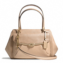 COACH MADISON GLITTER LIZARD MADELINE EAST/WEST SATCHEL - LIGHT GOLD/BUFF - F26325