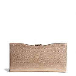 COACH MADISON GLITTER LIZARD FRAME CLUTCH - LIGHT GOLD/BUFF - F26326
