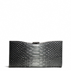 MADISON FRAME CLUTCH IN GLITTER PYTHON COACH F26332