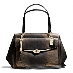 COACH MADISON LARGE MADELINE EAST/WEST SATCHEL IN METALLIC SPOTTED LIZARD LEATHER - ONE COLOR - F26333
