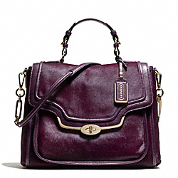 COACH MADISON MIXED HAIRCALF SADIE FLAP SATCHEL - ONE COLOR - F26346