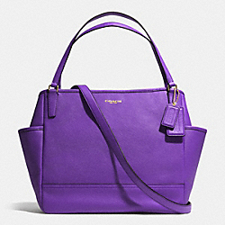COACH SAFFIANO LEATHER BABY BAG TOTE - LIGHT GOLD/PURPLE IRIS - F26353