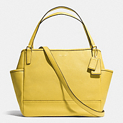 COACH SAFFIANO LEATHER BABY BAG TOTE - LIGHT GOLD/SAFFRON - F26353