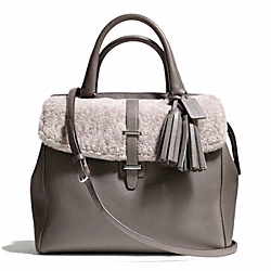 COACH SHEARLING NORTH/SOUTH SATCHEL - ONE COLOR - F26366