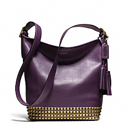 STUDDED LEATHER DUFFLE - f26413 - 27194
