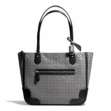COACH f26414 POPPY SIGNATURE C METALLIC OUTLINE SMALL TOTE