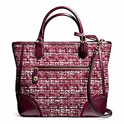 COACH POPPY QUILTED BOUCLE SMALL BLAIRE TOTE - ONE COLOR - F26416