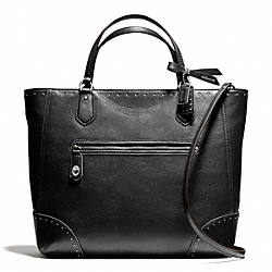 COACH POPPY SMALL BLAIRE TOTE IN STUDDED LEATHER - ONE COLOR - F26436