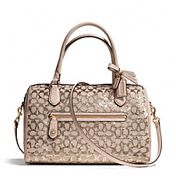 COACH POPPY SEQUIN SIGNATURE C EAST/WEST SATCHEL - Light Gold/CHAMPAGNE - F26438