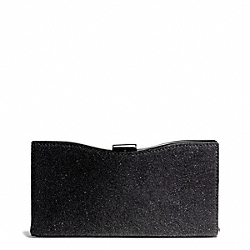 COACH MADISON FRAME CLUTCH IN CAVIAR LEATHER - ONE COLOR - F26481