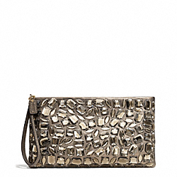 MADISON ZIP CLUTCH IN JEWELED LEATHER - f26485 - 29736