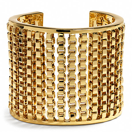 COACH BOX CHAIN CUFF -  - f26491