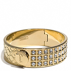 SMALL BEVELED PAVE BRACELET - f26495 - 30579
