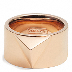 SPIKE PYRAMID BAND RING COACH F26513