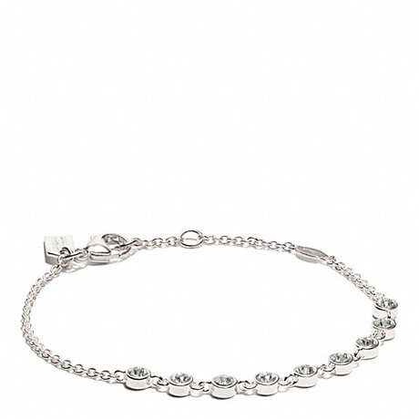 COACH STERLING SLIDING STONES BRACELET - SILVER/CLEAR - f26533
