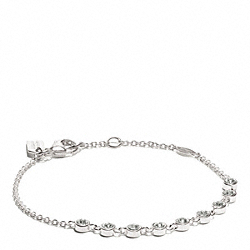 STERLING SLIDING STONES BRACELET - SILVER/CLEAR - COACH F26533