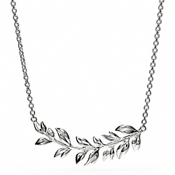 STERLING LEAVES NECKLACE COACH F26548