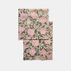 CAMO ROSE SIGNATURE OBLONG - IVORY/PINK - COACH F26591